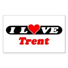 I Love Trent Rectangle Decal