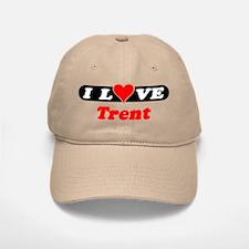 I Love Trent Baseball Baseball Cap