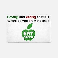 Eat Green 3'x5' Area Rug