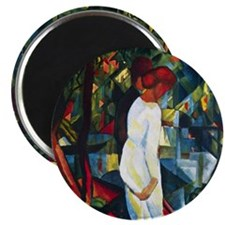 August Macke Couple In The Forest Magnet