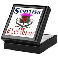 Scottish Canadian Thistle Design Keepsake Box
