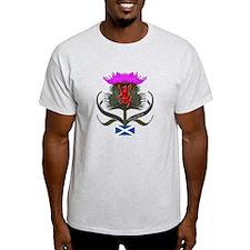 Scotland thistle lion and saltire fl T-Shirt