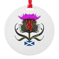 Scotland thistle lion and saltire f Ornament