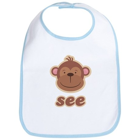 Twin Monkey See Bib