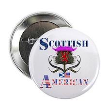 """Scottish American Thistle Design 2.25"""" Button"""