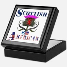 Scottish American Thistle Design Keepsake Box