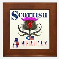 Scottish American Thistle Design Framed Tile
