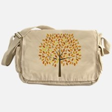 Gold Ribbon Tree Messenger Bag