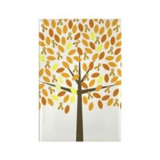Gold Ribbon Tree Rectangle Magnet