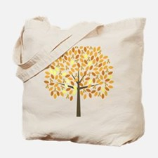 Gold Ribbon Tree Tote Bag