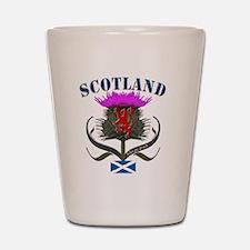 Tartan Scotland thistle lion saltire Shot Glass