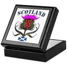 Tartan Scotland thistle lion saltire Keepsake Box