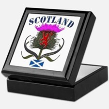 Tartan Scotland thistle lion saltire Keepsake Box