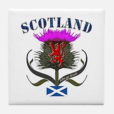Tartan Scotland thistle lion saltire Tile Coaster