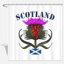 Tartan Scotland thistle lion saltir Shower Curtain