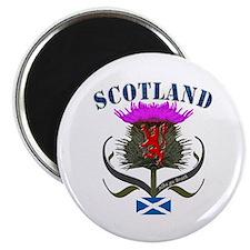Tartan Scotland thistle lion saltire Magnet
