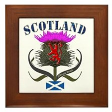 Tartan Scotland thistle lion saltire Framed Tile