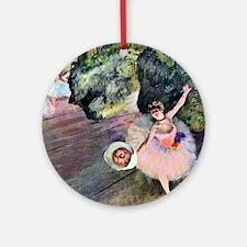 Edgar Degas Dancer With Flowers Round Ornament
