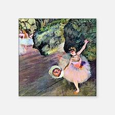 "Edgar Degas Dancer With Flo Square Sticker 3"" x 3"""