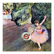 "Edgar Degas Dancer With  Square Car Magnet 3"" x 3"""