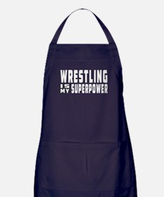 Wrestling Is My Superpower Apron (dark)