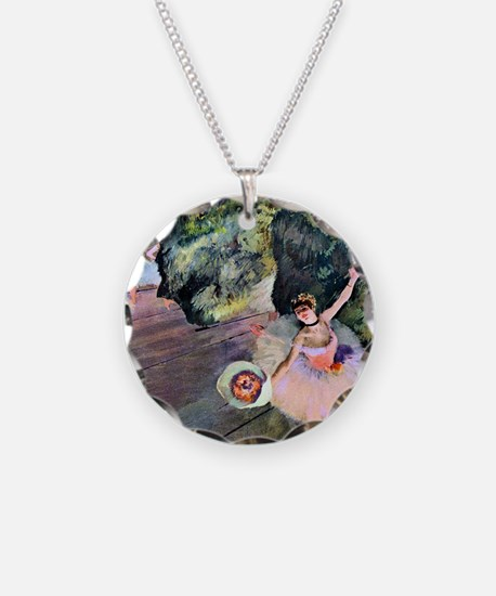 Edgar Degas Dancer With Flow Necklace Circle Charm