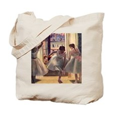 Three Dancers In A Practice Room Tote Bag
