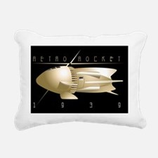 Retro Rocket 1939 Rectangular Canvas Pillow