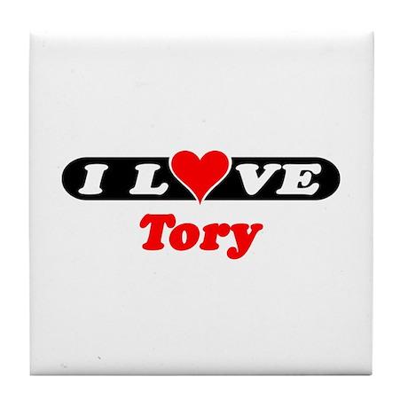 I Love Tory Tile Coaster