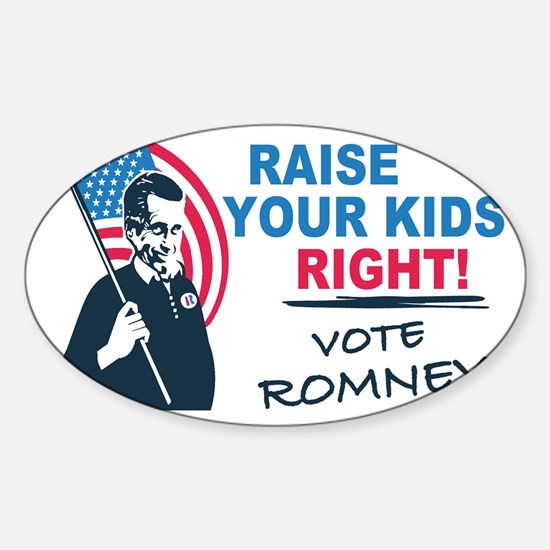 I Vote Mitt Sticker (Oval)