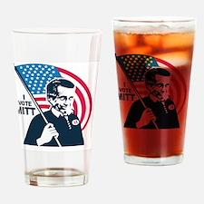 I Vote Mitt Drinking Glass