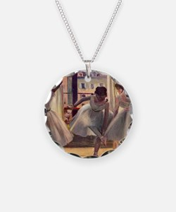 Edgar Degas Three Dancers In Necklace Circle Charm