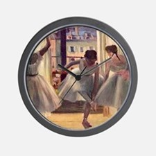 Edgar Degas Three Dancers In A Practice Wall Clock