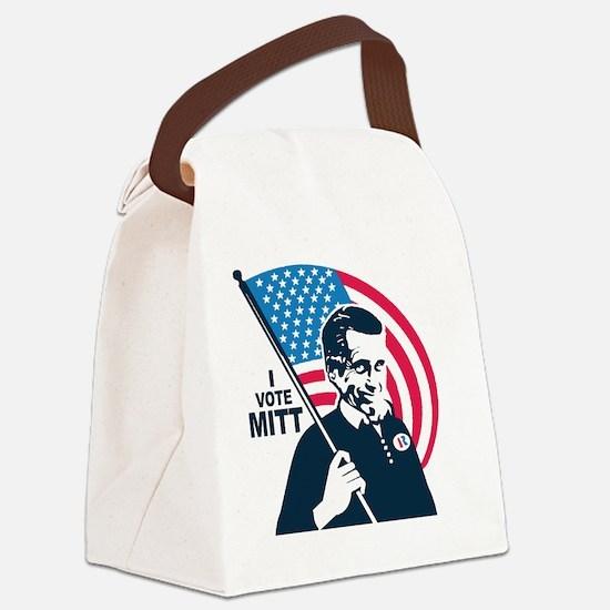 I Vote Mitt Canvas Lunch Bag