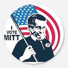 I Vote Mitt Round Car Magnet