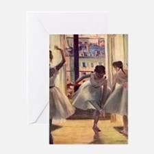 Edgar Degas Three Dancers In A Pract Greeting Card