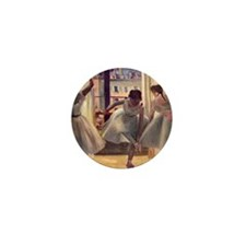 Edgar Degas Three Dancers In A Practic Mini Button