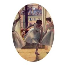 Edgar Degas Three Dancers In A Pract Oval Ornament