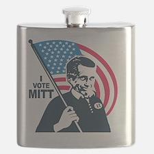 I Vote Mitt Flask