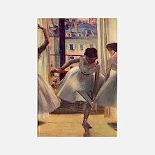 Edgar Degas Three Dancers In A Pr Rectangle Magnet