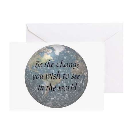 Be the change... Greeting Cards (Pk of 10)