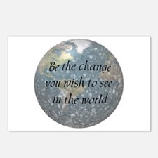 Be the change... Postcards (Package of 8)