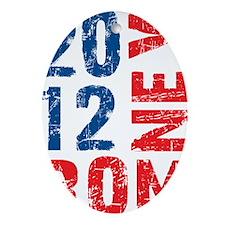 ROMNEY FOR PRESIDENT 2012 (VINTAGE) Oval Ornament