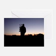 Hunter at Sunset Greeting Card