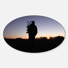 Hunter at Sunset Decal