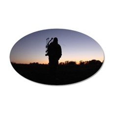 Hunter at Sunset 35x21 Oval Wall Decal