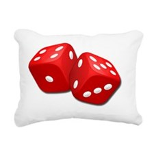 Red Dice Rectangular Canvas Pillow