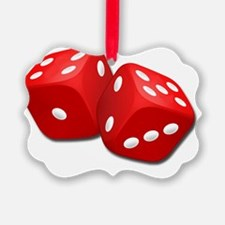 Red Dice Ornament
