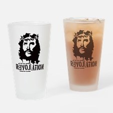 Jesus Christ Revolation Drinking Glass