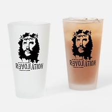 Jesus Christ Revolation Drinking Glass